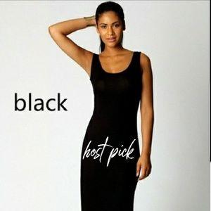 NWOT Black Maxi Dress